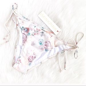MINK PINK cream vintage floral bikini bottom